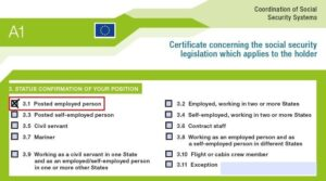 About A1 social coverage certificate