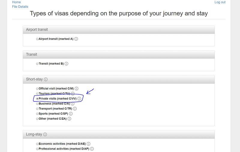 vizei de scurtă ședere